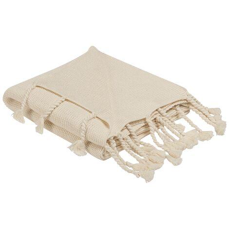 Blanket 125 x 150 cm Beige NAZILLI