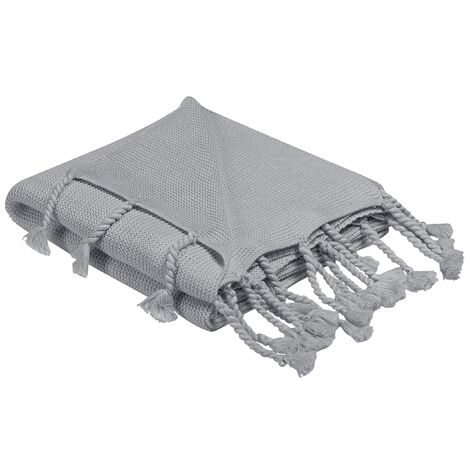 Blanket 125 x 150 cm Light Grey NAZILLI