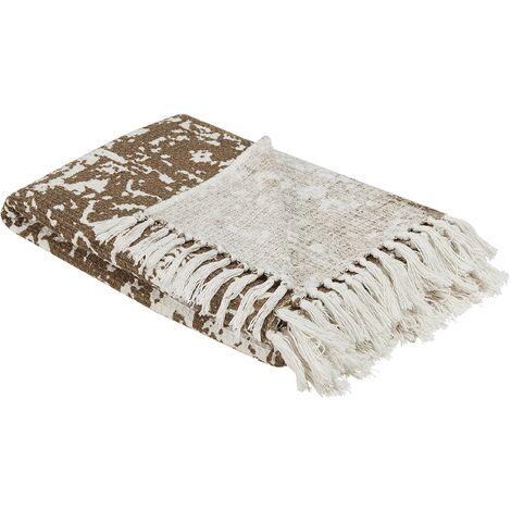 Blanket 130 x 165 cm Beige PAZARYERI