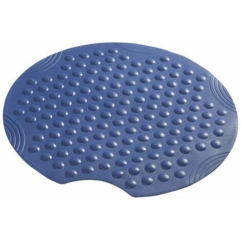 Blaue runde Duscheinlage Anti Rutsch Matte Duschmatte Sicherheitseinlage für die Duschwanne - RIDDER - Modell TECHNO - Durchmesser 54cm