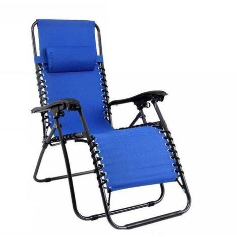 Blauer Zero-Gravity-Faltliegestuhl