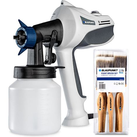 Blaupunkt Electric Paint Spray Gun PG3000 – 450W Motor – Adjustable Volume and Spray Pattern