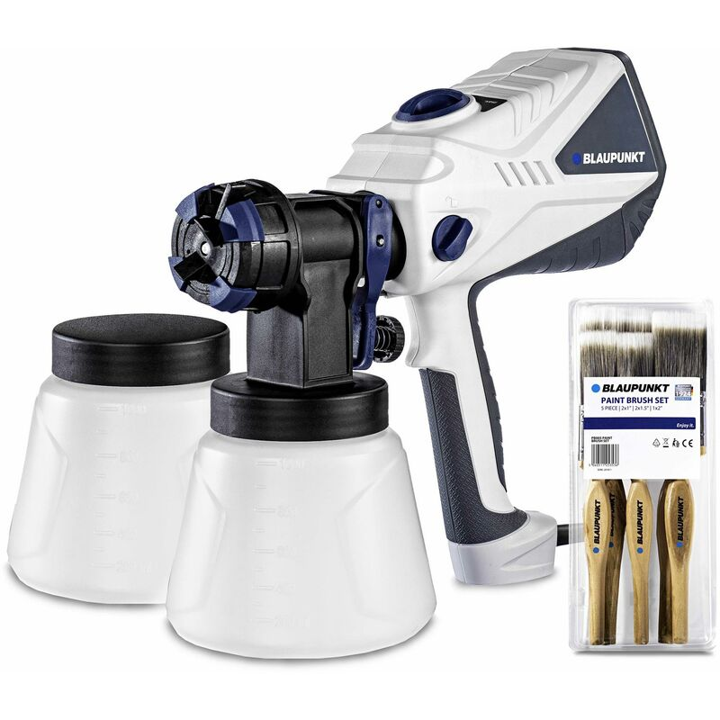 Image of Blaupunkt Electric Paint Spray Gun PG4000 – High Power 600W Motor – Adjustable Flow, Power and Spray Pattern