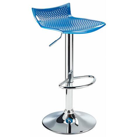 Blazar Blue Bar Stool Height Adjustable