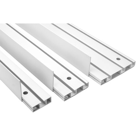 Blende | für OM Gardienenschienen | PVC | Hexim | Meterware | OMB