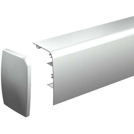 Blende mit Kappen für Schiebetürbeschlag SLID'UP 1000, Länge 295 cm, Wandmontage, für Holztüren, Schiebetüren