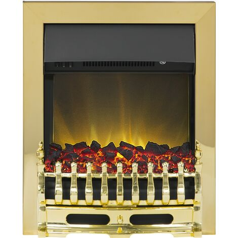 Blenheim Inset Electric fire in Brass