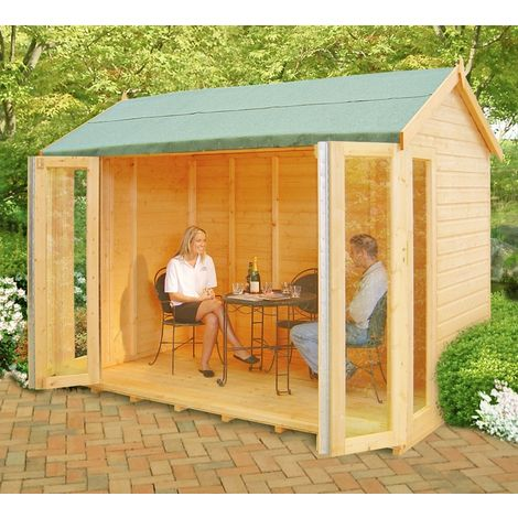 Blenheim Shiplap Summerhouse Garden Sun Room Approx 10 x 8 Feet