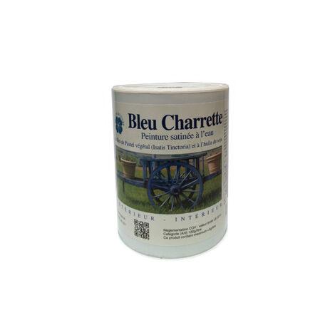 BLEU CHARRETTE - 0.5L - PEINTURE BLEU CHARRETTE POUR BOIS EXTÉRIEUR 10M2/1L - bleu charrette