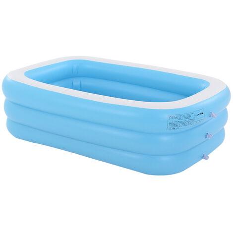 Bleu piscine gonflable épaisse 110 * 90 * 46 cm