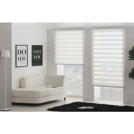 Blindecor Nd100 Store Enrouleur Double Tissu Nuit et Jour 100 x 180 cm Noir