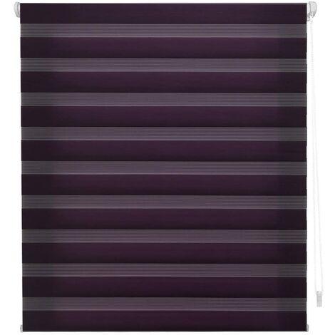 BlindecorIndus «sans Outils» Store Enrouleur Double Tissage, Jour/Nuit, Violet, 87x180cm
