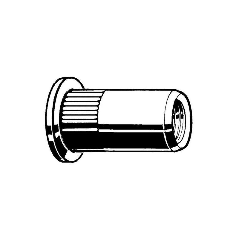 Blindnietmuttern Edelstahl A2 Flachrundkopf M8 OCH 30mm 250Stk