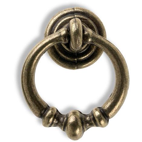 Blister con 6 anillas de zamak con acabado cuero, dimensiones: 34x42x15mm - talla