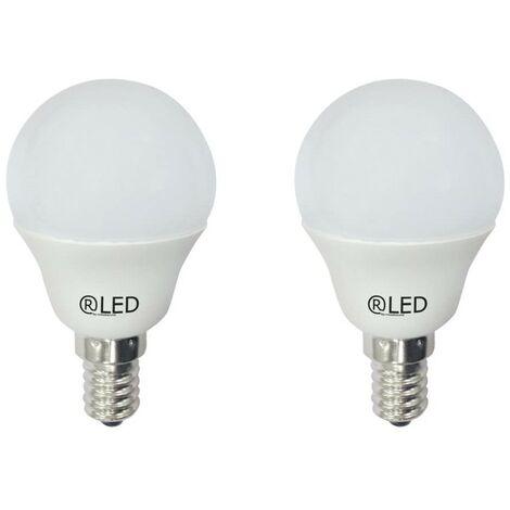 Blíster de 2 bombillas mini esféricas LED, 6 W, E14 , 4200 K
