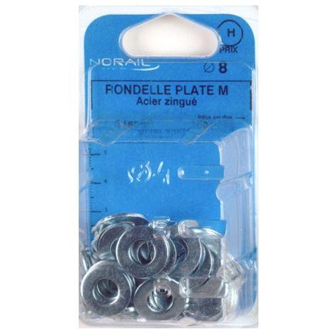 Blister de 80 rondelles plates type moyenne M10 - Zingué - 42001002CP80