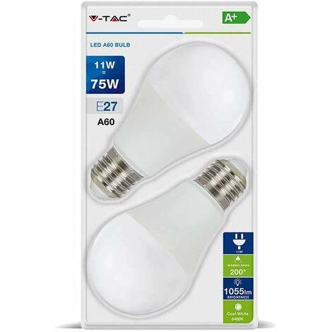 Blister Packing Duo - Bombilla LED globo A60 E27 11W 200°