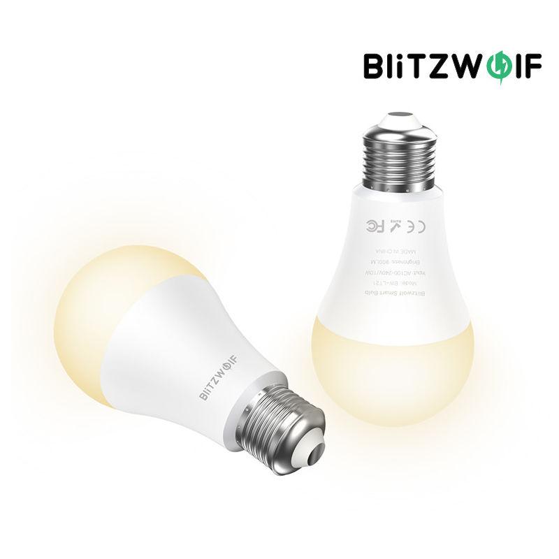 BlitzWolf BW-LT21 3000K + RGB Smart Wifi LED Smart Bulb Lamps con APP Control remoto Soporte para Amazon para Echo para Google Home