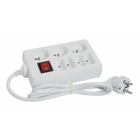 terre-interrupteur câble 1m 3G1 Bloc 3 prises 16A