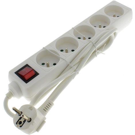Bloc 5 prises 10/16a + interrupteur pour Droguerie Accessoire