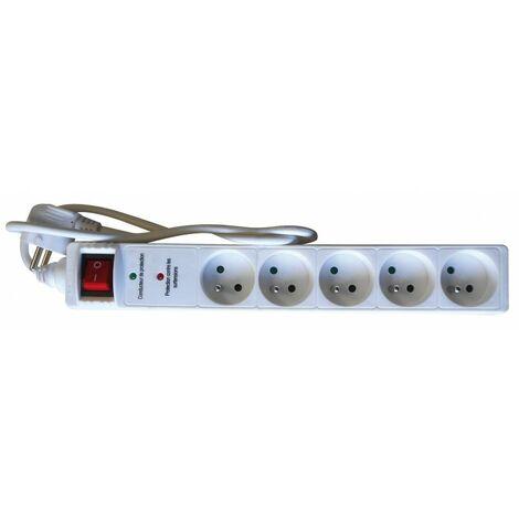 Bloc 5 prises Parafoudre avec interrupteur