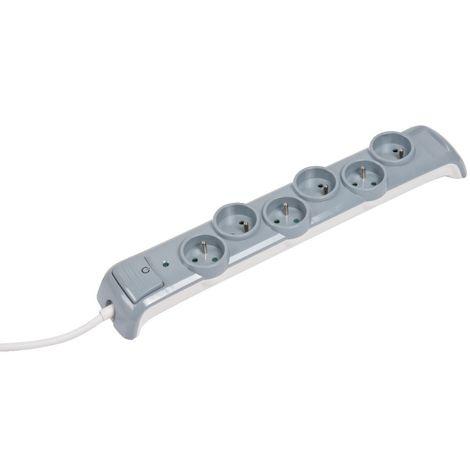 Bloc 6 prises parafoudre - Avec interrupteur - L'ébénoïd