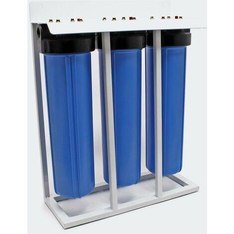 """main image of """"Bloc charbon actif et filtre charbon actif granulé 3 etapes système filtre 32.89mm (1 pouce)"""""""