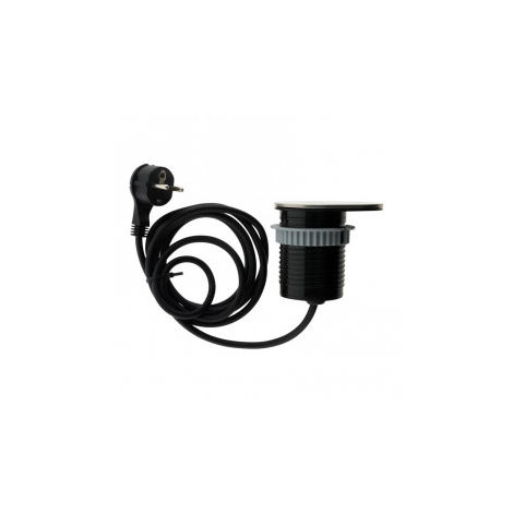 Bloc compact à glissière encastrable Ø 60mm- 1 prise 16A + 1 USB - Otio