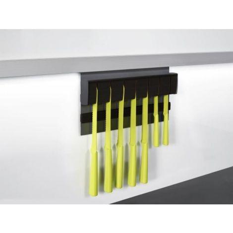 Bloc couteaux magnétique finition noir graphite LINERO MOSAIQ