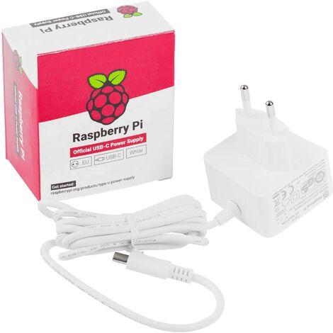 Bloc d'alimentation à tension fixe Raspberry Pi® rb-netzteil4-w Convient pour: Raspberry Pi 3000 mA 1 x USB-C™ mâle 1 pc(s) Q175212