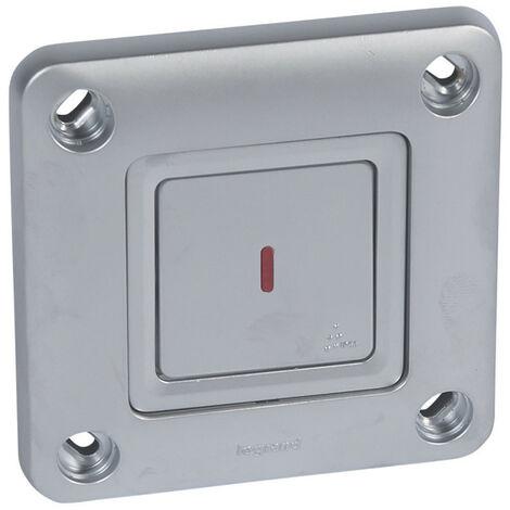 Bloc d'appel haute résistance aux chocs IK10 et à l'humidité IPX5 avec témoin rouge de retour d'appel livré complet (078251)