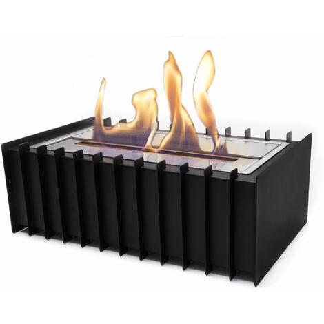 Bloc de combustion avec cadre en acier noir