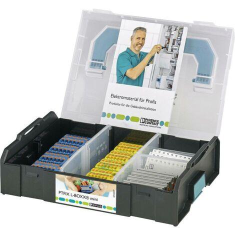 Bloc de distribution Phoenix Contact PTFIX Sortimo® L-BOXX MINI 1182117 0.2 mm² 6 mm² bleu, vert, jaune 1 set