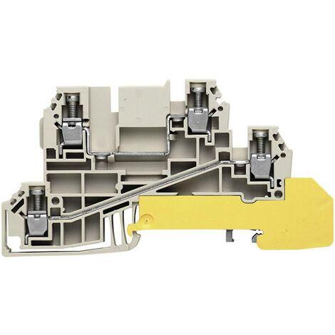 Bloc de jonction dérivateur Weidmüller WDL 2.5/L/L/PE 1030200000 gris, vert-jaune 1 pc(s)