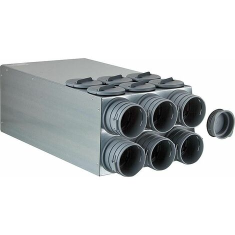 Bloc de repartition FRS-VK 6-75/DN125 - 6 flexibles FRS-R 75 - revetement insonorisant