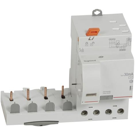 Bloc diff adapt DX³-auto-4P-400 V~-40 A-type AC-30 mA-disj 1 mod/pôle