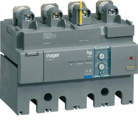 Bloc différentiel électronique h400 4P 400A Idn réglable & déclenchem tempo fixe (HBD401H)