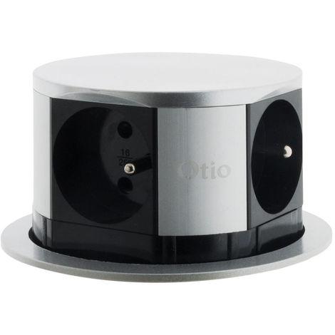 Bloc multiprise encastrable compact 4 prises 16A 2P+T - Otio