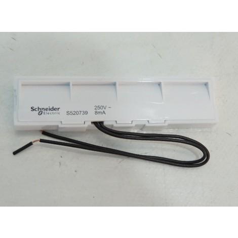 """main image of """"Bloc lumineux LED 250V 8mA blanc pour plaque porte étiquette 1 poste ODACE STYL PRATIC SCHNEIDER ELECTRIC S520739"""""""