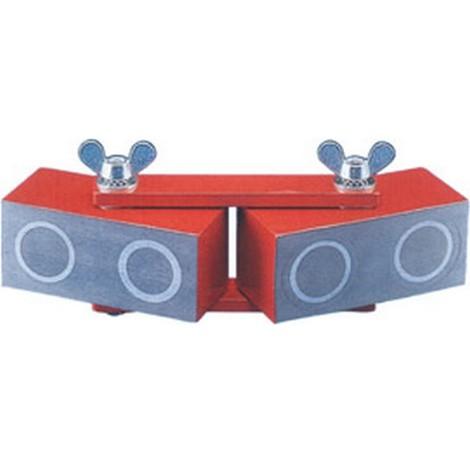 Bloc magnétique articulé réglable, Long. : 125 mm, Dimensions du bloc 60 x 25 x 25 mm, Force de maintien 150 N