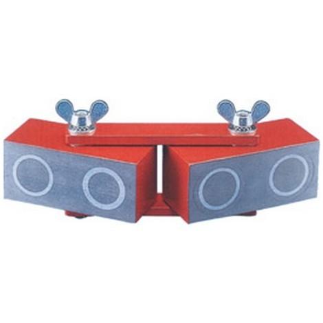 Bloc magnétique articulé réglable, Long. : 190 mm, Dimensions du bloc 90 x 40 x 40 mm, Force de maintien 250 N