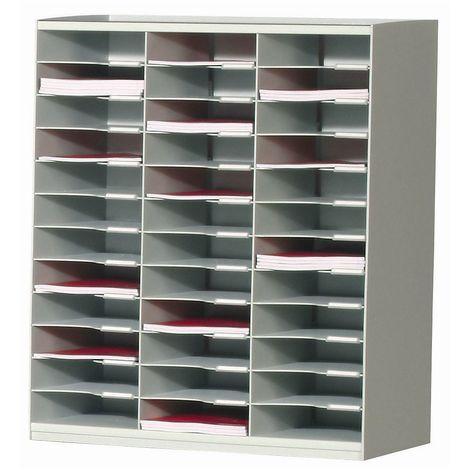 Bloc multicase - en polystyrol - avec 36 casiers, h x l x p 791 x 674 x 308 mm