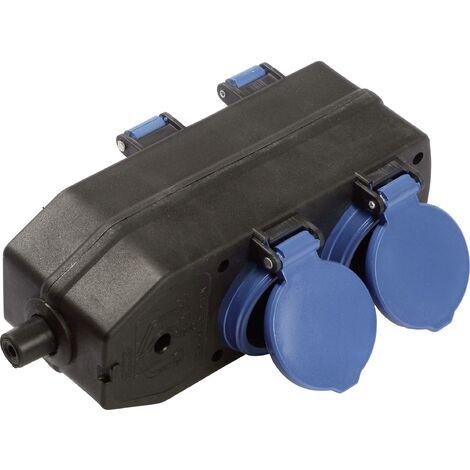 Bloc multiprise 230 V as - Schwabe 60600 noir, bleu C343711