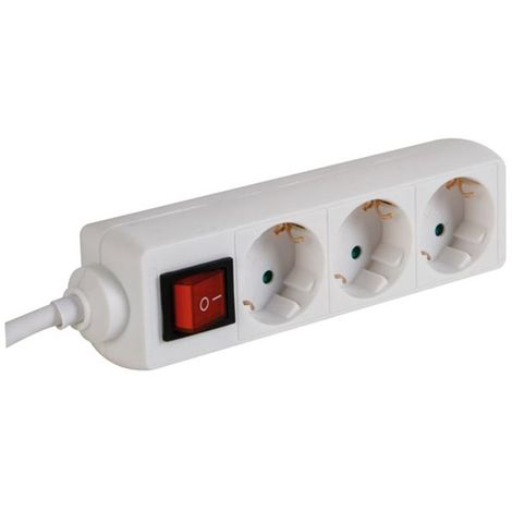 Bloc multiprise, 3 prises avec interrupteur - cable de 3 m