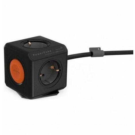 Bloc Multiprise (4 Prises) avec interrupteur et câble de 1.5m Noir - Allocacoc