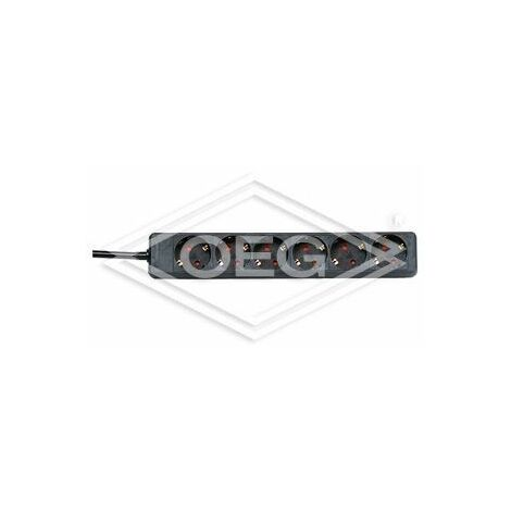 Bloc multiprise Kopp 6 prises noir, 250 V~, 16A