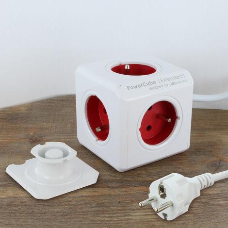 Bloc multiprise PowerCube 5 prises + câble 1,5 m