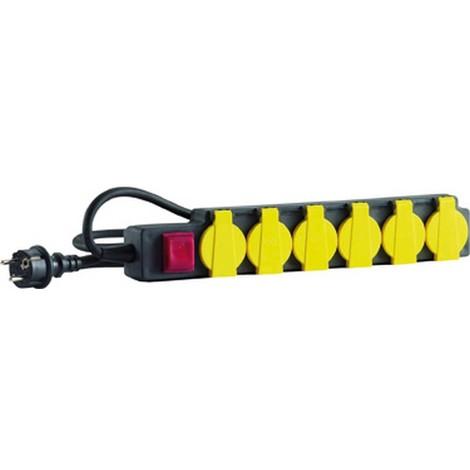 Bloc multiprises, Type de câble : H07 RN-F 3G1,5, Long. de câble 3,0 m, Qualité du câble Néoprène