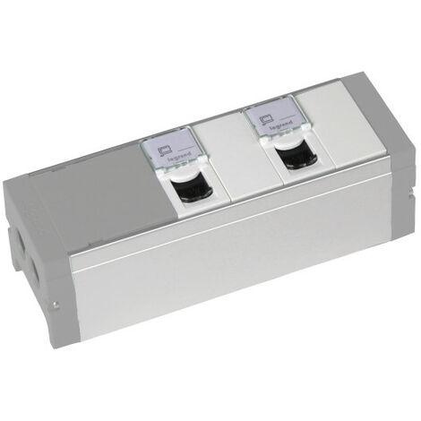 Bloc nourrice équipé de 2 prises RJ45 catégorie6 FTP + 2 obturateurs à câbler (073495)