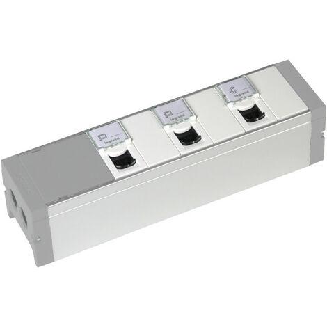 Bloc nourrice équipé de 3 prises RJ45 catégorie6 FTP + 3 obturateurs à câbler (073496)